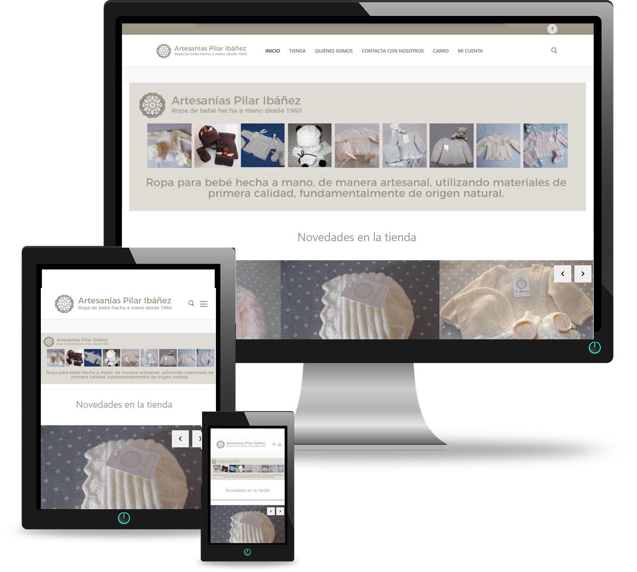 Diseño web Artesanía Bebé